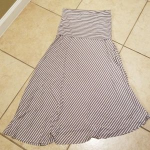 INC International Concepts Skirts - INC Sand Stripe Asymmetrical Maxi Skirt Petite M